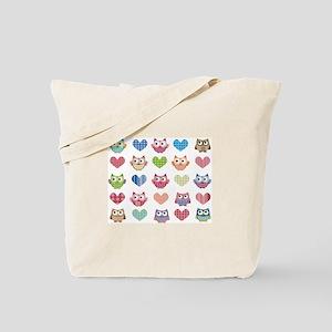 Owls & Hearts Tote Bag