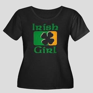 Irish Gi Women's Scoop Neck Dark Plus Size T-S