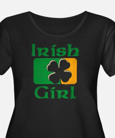 Irish Gi Women's Scoop Neck Dark Plus Size T-S