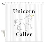 Unicorn Caller Shower Curtain