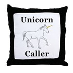 Unicorn Caller Throw Pillow