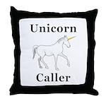 Unicorn Caller Throw Pillow