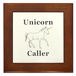 Unicorn Caller Framed Tile
