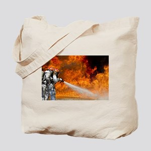Firefighters in Action Tote Bag