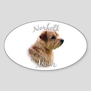 Norfolk Mom2 Oval Sticker