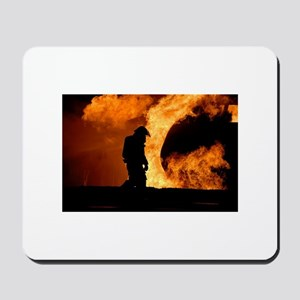 Sole Firefighter in the Blaze Mousepad