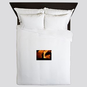 Sole Firefighter in the Blaze Queen Duvet