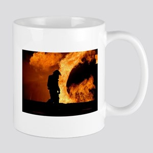 Sole Firefighter in the Blaze Mugs