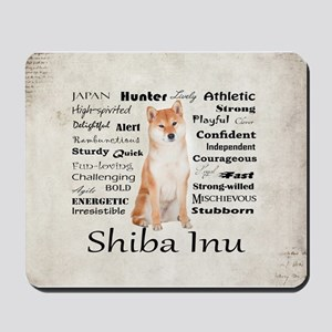 Shiba Inu Traits Mousepad
