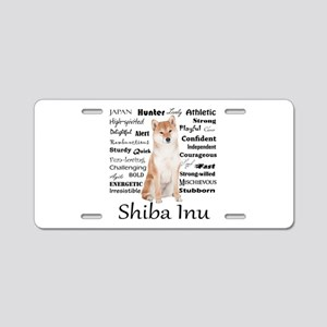 Shiba Inu Traits Aluminum License Plate