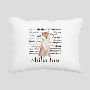 Shiba Inu Traits Rectangular Canvas Pillow