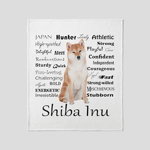 Shiba Inu Traits Throw Blanket