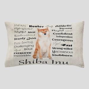 Shiba Inu Traits Pillow Case