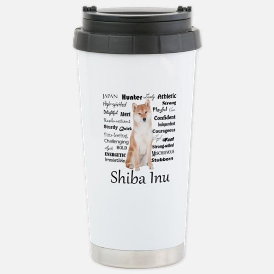 Shiba Inu Traits Travel Mug