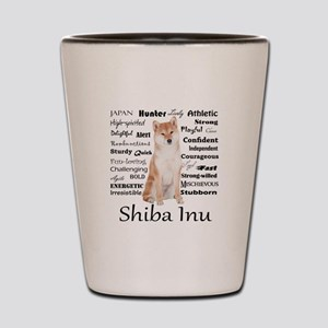 Shiba Inu Traits Shot Glass