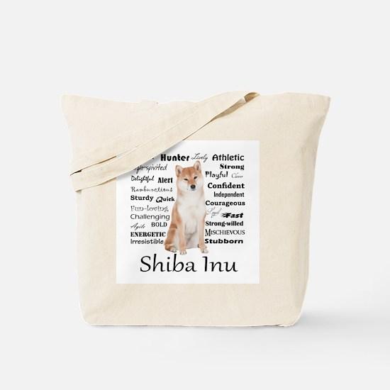 Shiba Inu Traits Tote Bag