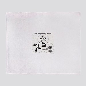 Ms. BugLady's World - Official Logo Throw Blanket