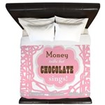 Chocolate Sings Chocolate Text King Duvet