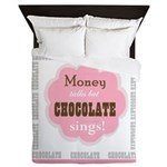 Chocolate Sings Chocolate Text Queen Duvet