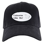 Unicorns Like Me Black Cap