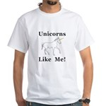 Unicorns Like Me White T-Shirt