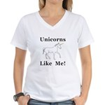 Unicorns Like Me Women's V-Neck T-Shirt