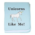Unicorns Like Me baby blanket
