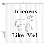 Unicorns Like Me Shower Curtain