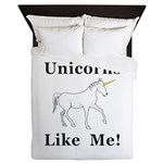 Unicorns Like Me Queen Duvet