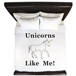 Unicorns Like Me King Duvet