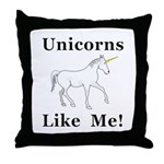 Unicorns Like Me Throw Pillow
