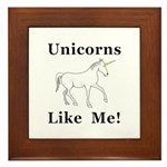 Unicorns Like Me Framed Tile