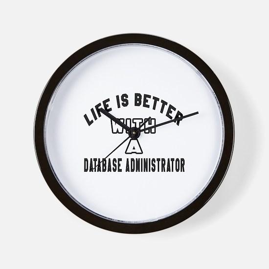 Database Administrator Designs Wall Clock