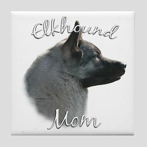 Elkhound Mom2 Tile Coaster