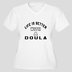 Doula Designs Women's Plus Size V-Neck T-Shirt
