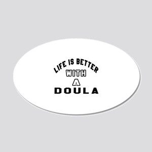 Doula Designs 20x12 Oval Wall Decal