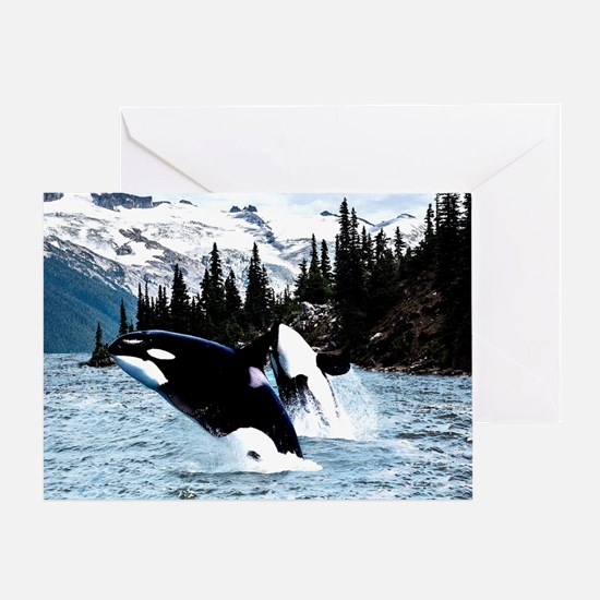 Unique Orca Greeting Card