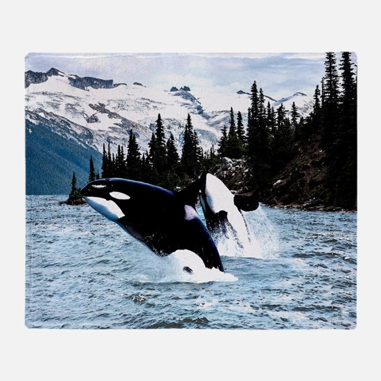 Cool Killer whale Throw Blanket