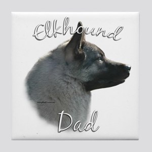 Elkhound Dad2 Tile Coaster