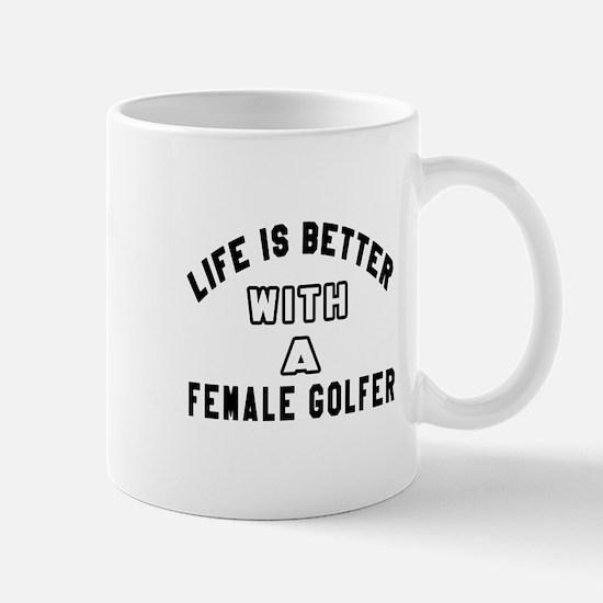 Female Golfer Designs Mug