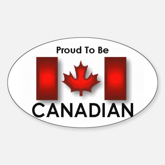 Proud To Be Canadian Oval Decal