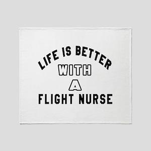 Flight Nurse Designs Throw Blanket