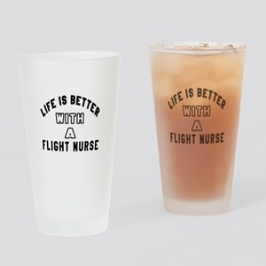 Flight Nurse Designs Drinking Glass