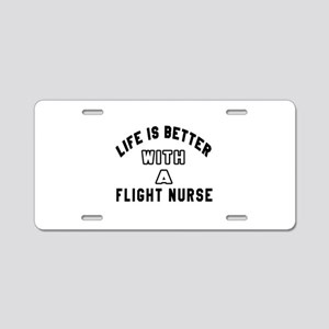 Flight Nurse Designs Aluminum License Plate