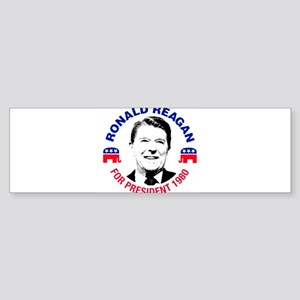 Ronald Reagan For President 1980 Bumper Sticker