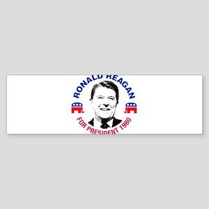 Ronald Reagan For President 1980 Bumper Sticker