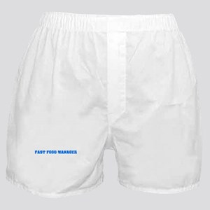 Fast Food Manager Blue Bold Design Boxer Shorts