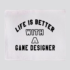 Game Designer Designs Throw Blanket
