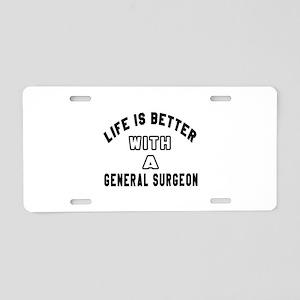 General Surgeon Designs Aluminum License Plate