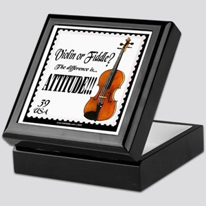 Violin Fiddle String Music Keepsake Box